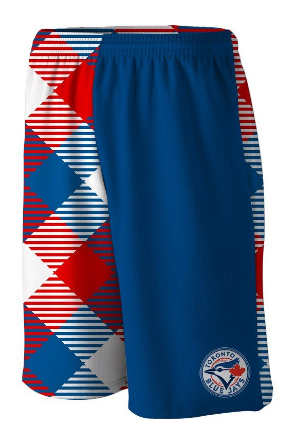 Blue Jays Microwave Blue Gym Short