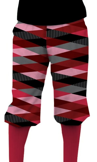 Fore Shades of Red Men's Knickerbockers MTO