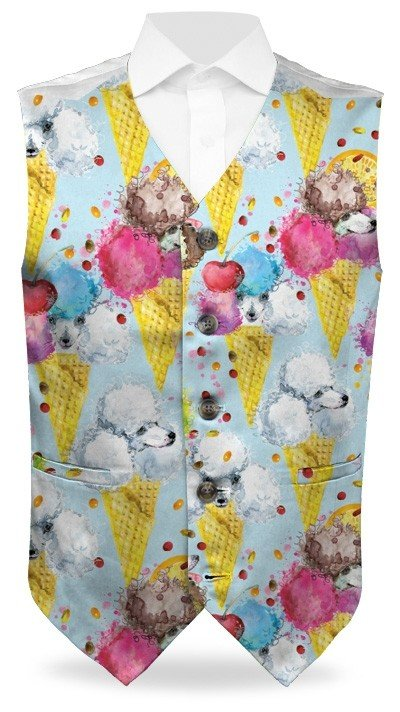 French Poodle Sundae StretchTech Men's Vest MTO