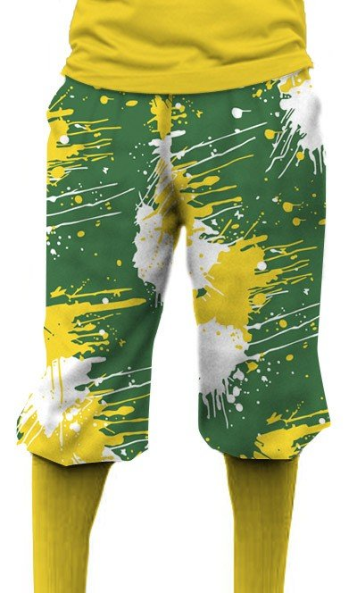 Green & Gold Paint Knickerbockers MTO