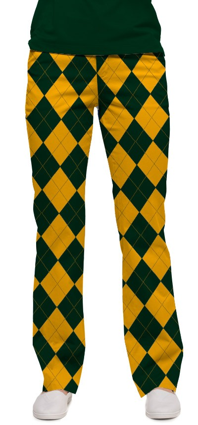 Hunter Green & Gold Mega Women's Capri/Pant MTO
