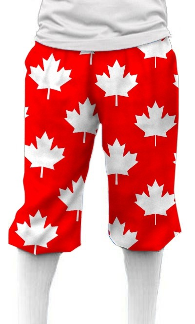 Canada Maple Leaf Red StretchTech Knickerbockers MTO
