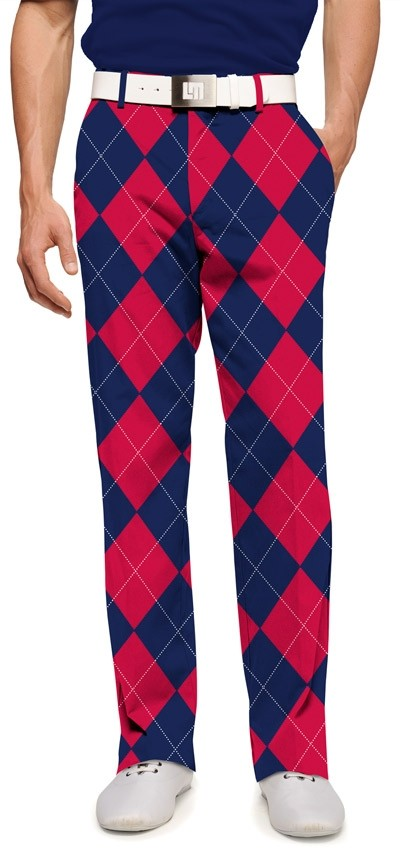 Navy & Red Mega StretchTech Men's Pant MTO