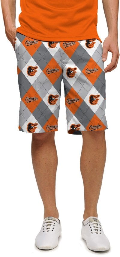 Orioles Argyle Gray StretchTech Men's Short MTO