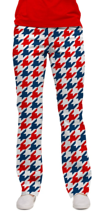 Red & Blue Tooth Women's Capri/Pant MTO