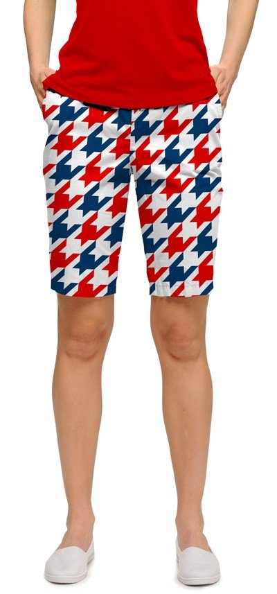 Red & Blue Tooth Women's Bermuda Short MTO