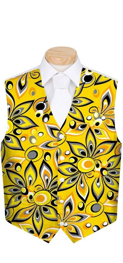 Shagadelic Yellow Men's Vest MTO