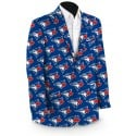 Blue Jays Solid Men's Sport Coat MTO