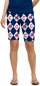 Indians Argyle Women's Bermuda Short MTO