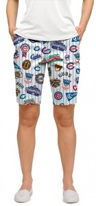 Cubs Retro StretchTech Women's Bermuda Short MTO