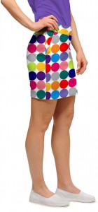 Disco Balls White Women's Skort/Skirt MTO