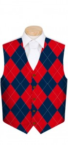 Navy & Red Mega Men's Vest MTO