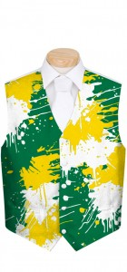 Green & Gold Paint Men's Vest MTO