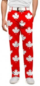 Canada Maple Leaf Red StretchTech Men's Pant MTO