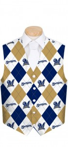Brewers Argyle Men's Vest MTO