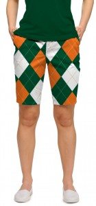 Orange & Green Women's Bermuda Short MTO