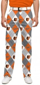 Orioles Argyle Gray StretchTech Men's Pant MTO