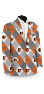 Orioles Argyle Gray StretchTech Men's Sport Coat MTO