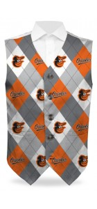 Orioles Argyle Gray StretchTech Men's Vest MTO