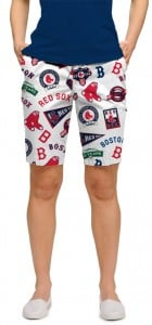 Red Sox Retro StretchTech Women's Bermuda Short MTO