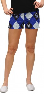 Rockies Argyle StretchTech Women's Mini Short MTO
