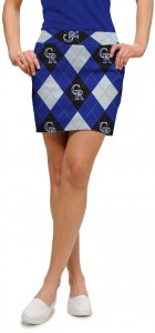 Rockies Argyle StretchTech Women's Skort/Skirt MTO
