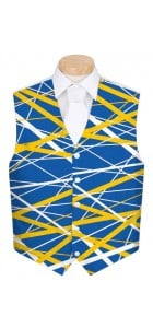 Stix Blue & Gold StretchTech Men's Vest MTO
