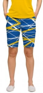 Stix Blue & Gold StretchTech Women's Bermuda Short MTO