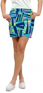 Tiki Bar Blue Women's Skort