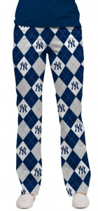 Yankees Argyle Gray Women's Capri/Pant MTO