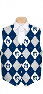 Yankees Pinstripe Navy Men's Vest MTO