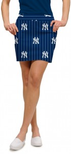 Yankees Argyle Gray Women's Skort/Skirt MTO