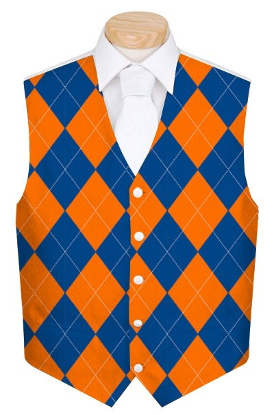 Orange & Blue Mega StretchTech Men's Vest MTO
