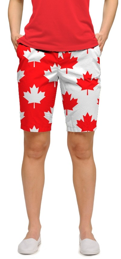 Canada Maple Leaf StretchTech Women's Bermuda Short