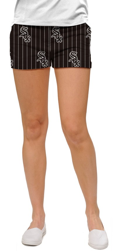 White Sox Pinstripe Women's Mini Short MTO