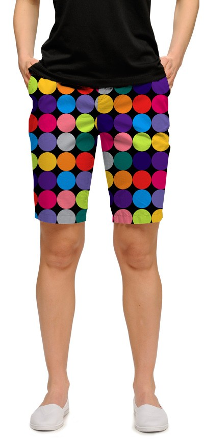 Disco Balls Black Women's Bermuda Short MTO