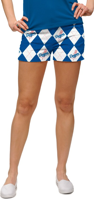 Dodgers Argyle White Women's Mini Short MTO