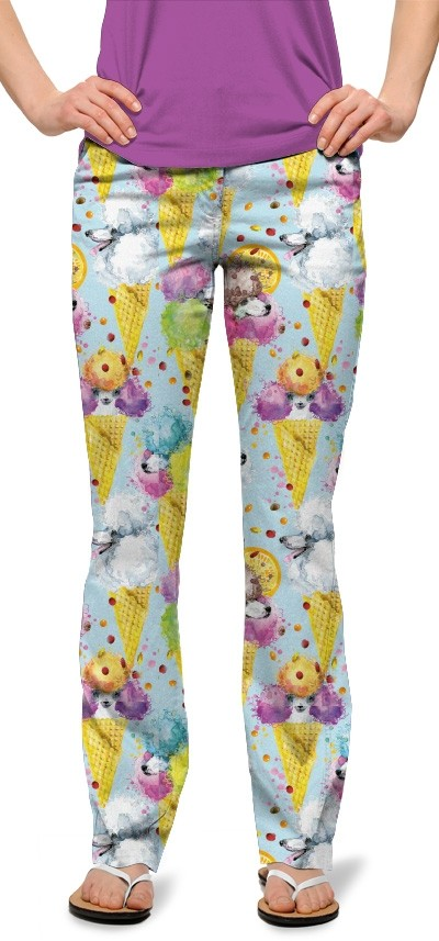 French Poodle Sundae StretchTech Women's Capri/Pant MTO