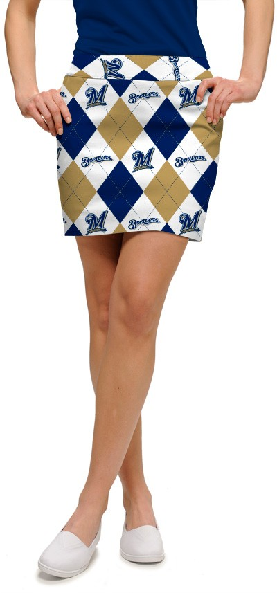 Brewers Argyle Women's Skort/Skirt MTO