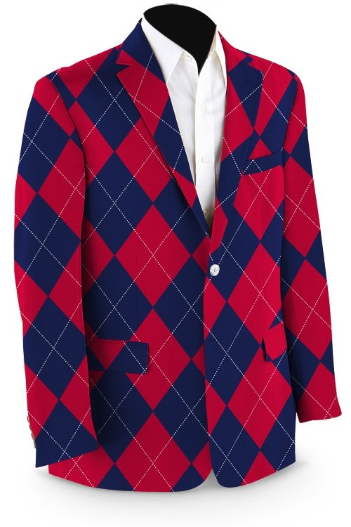 Navy & Red Mega StretchTech Men's Sport Coat MTO