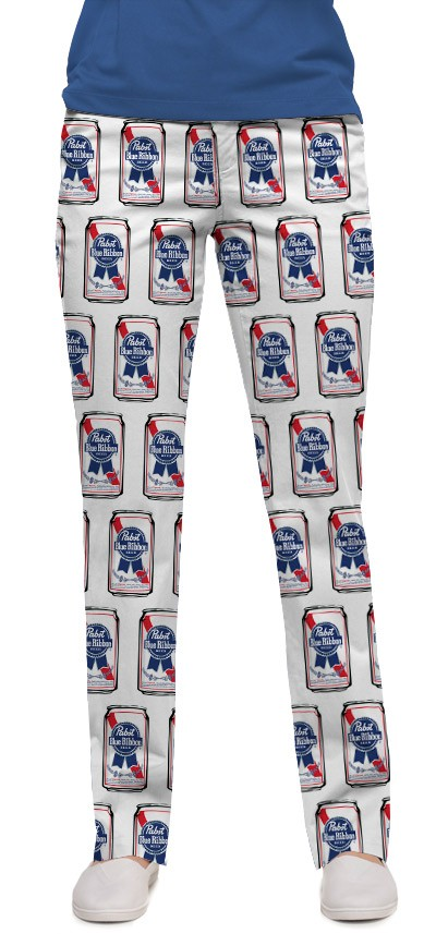 Pabst Blue Ribbon Cans Women's Capri/Pant MTO