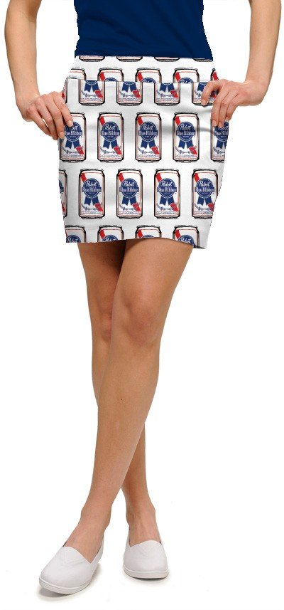 Pabst Blue Ribbon Cans Women's Skort/Skirt MTO