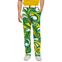 Green & Gold Splash Men's Pant MTO