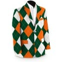 Orange & Green Men's Sport Coat MTO