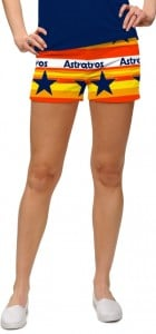 Astros Retro StretchTech Women's Mini Short MTO