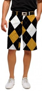 Black & Gold Argyle StretchTech Men's Short MTO