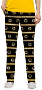 Boston Bruins Jersey Stripe StretchTech Women's Capri/Pant MTO