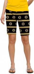 Boston Bruins Jersey Stripe StretchTech Women's Bermuda Short MTO