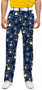 Brewers Retro Navy StretchTech Men's Pant MTO