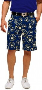 Brewers Retro Navy StretchTech Men's Short MTO